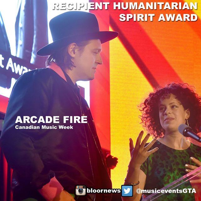 ARCADE FIRE 2018 RECIPIENT HUMANITARIAN SPIRIT AWARD#ARCADEFIRE#arcadefire#arcadefiretour#arcadefirelyrics#hillsidefestival#rock#concert#music#CMW2018#canadianmusichttp://musicpage.ca http://dbsduplication.com http://vinylrecordspressing.com